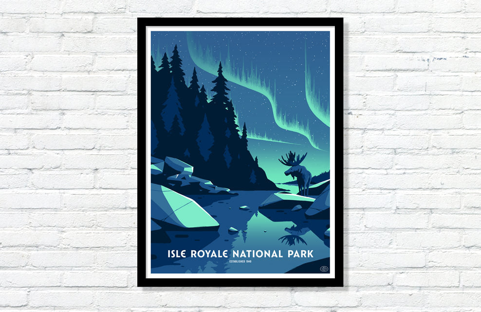 Isle Royale National Park Poster (Large Timed Edition)