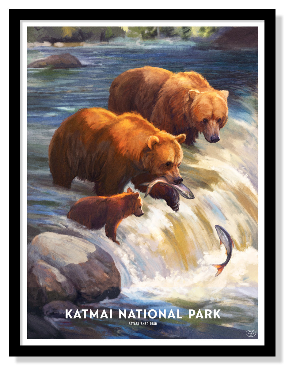 Katmai National Park Poster