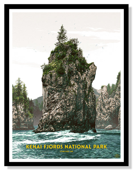 Kenai Fjords National Park Poster (Large Timed Edition)