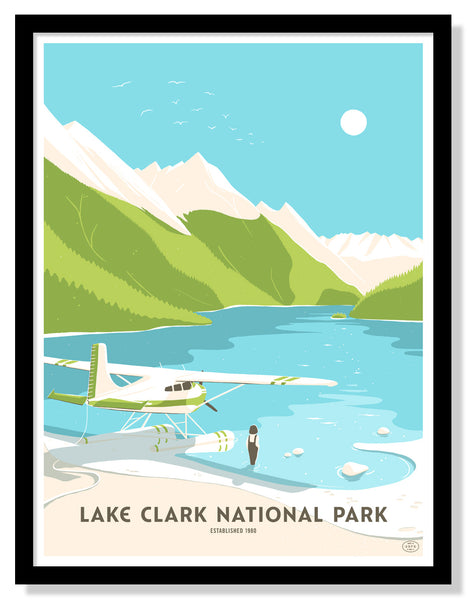 Lake Clark National Park Poster (Large Timed Edition)