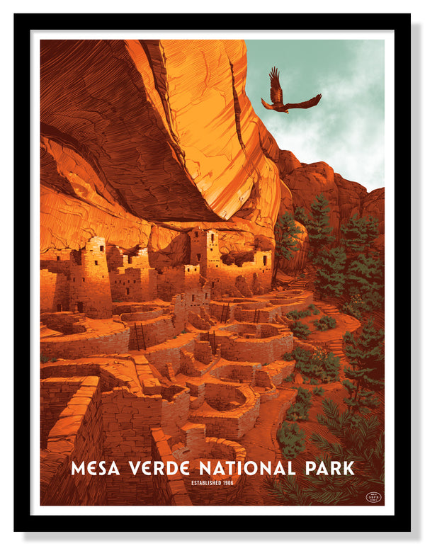 Mesa Verde National Park Poster (Large Timed Edition)