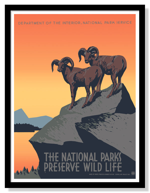 Preserve Wild Life WPA Poster (Large Timed Edition)