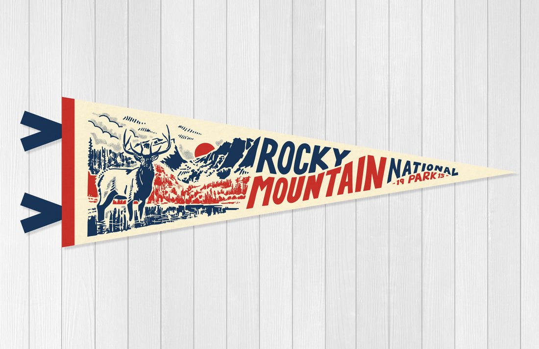 Rocky Mountain National Park Pennant