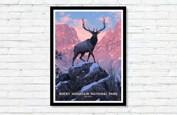 Rocky Mountain National Park Poster (Variant)