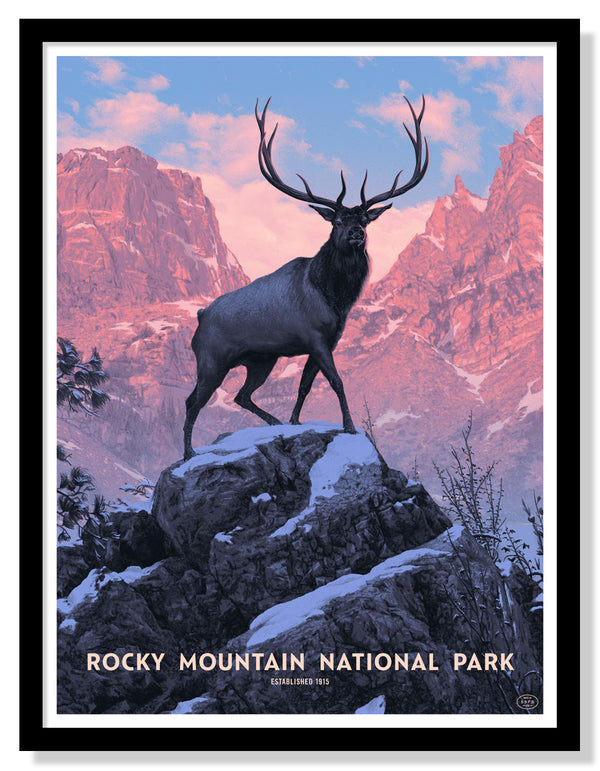 Rocky Mountain National Park Poster (Large Timed Edition)