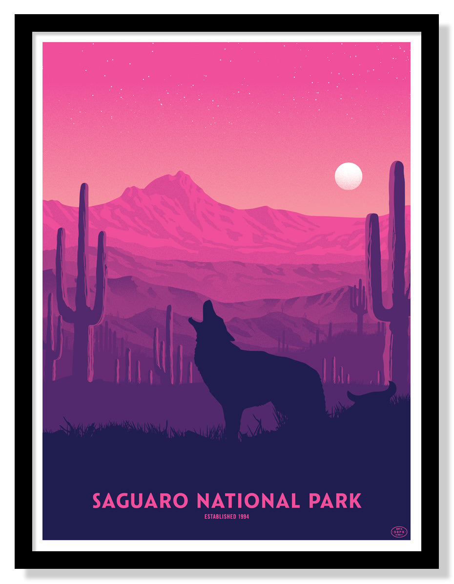 Saguaro National Park Poster (Large Timed Edition)