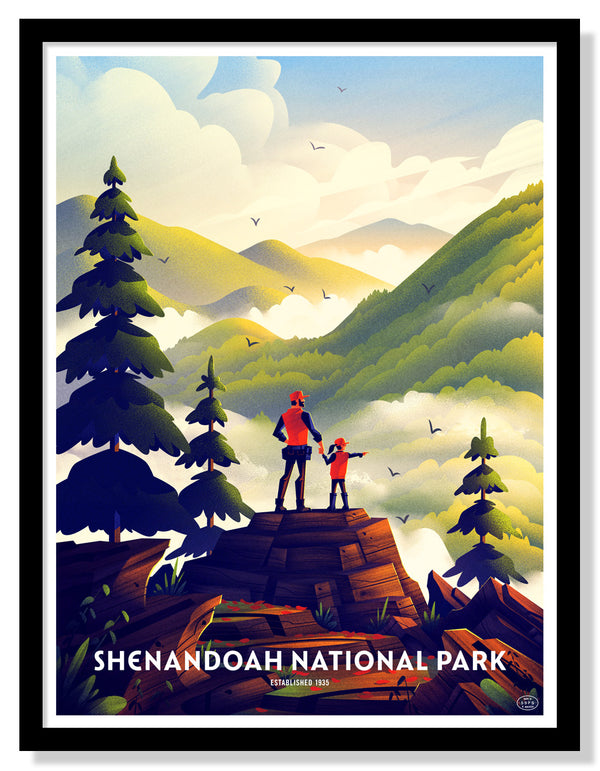 Shenandoah National Park Poster (Blackrock Summit)