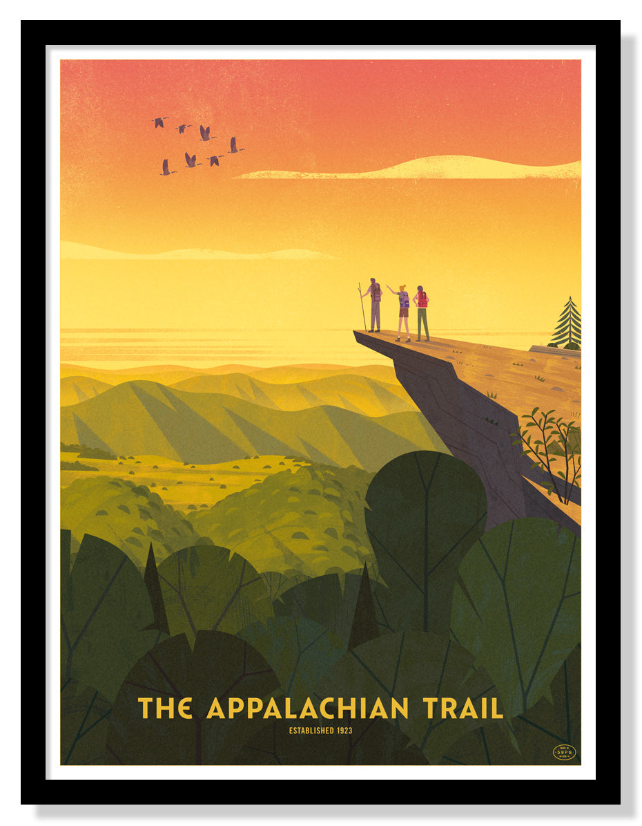 Appalachian Trail Poster (Large Timed Edition)