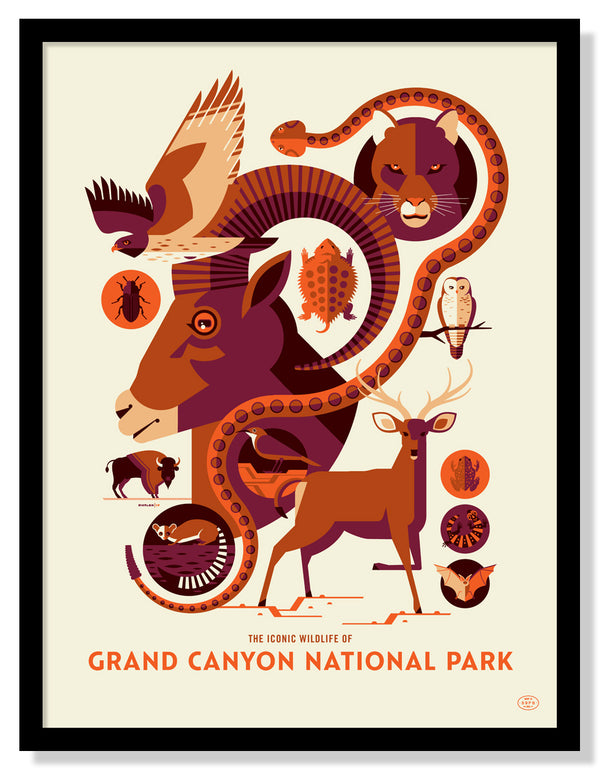 Iconic Wildlife of Grand Canyon National Park Poster