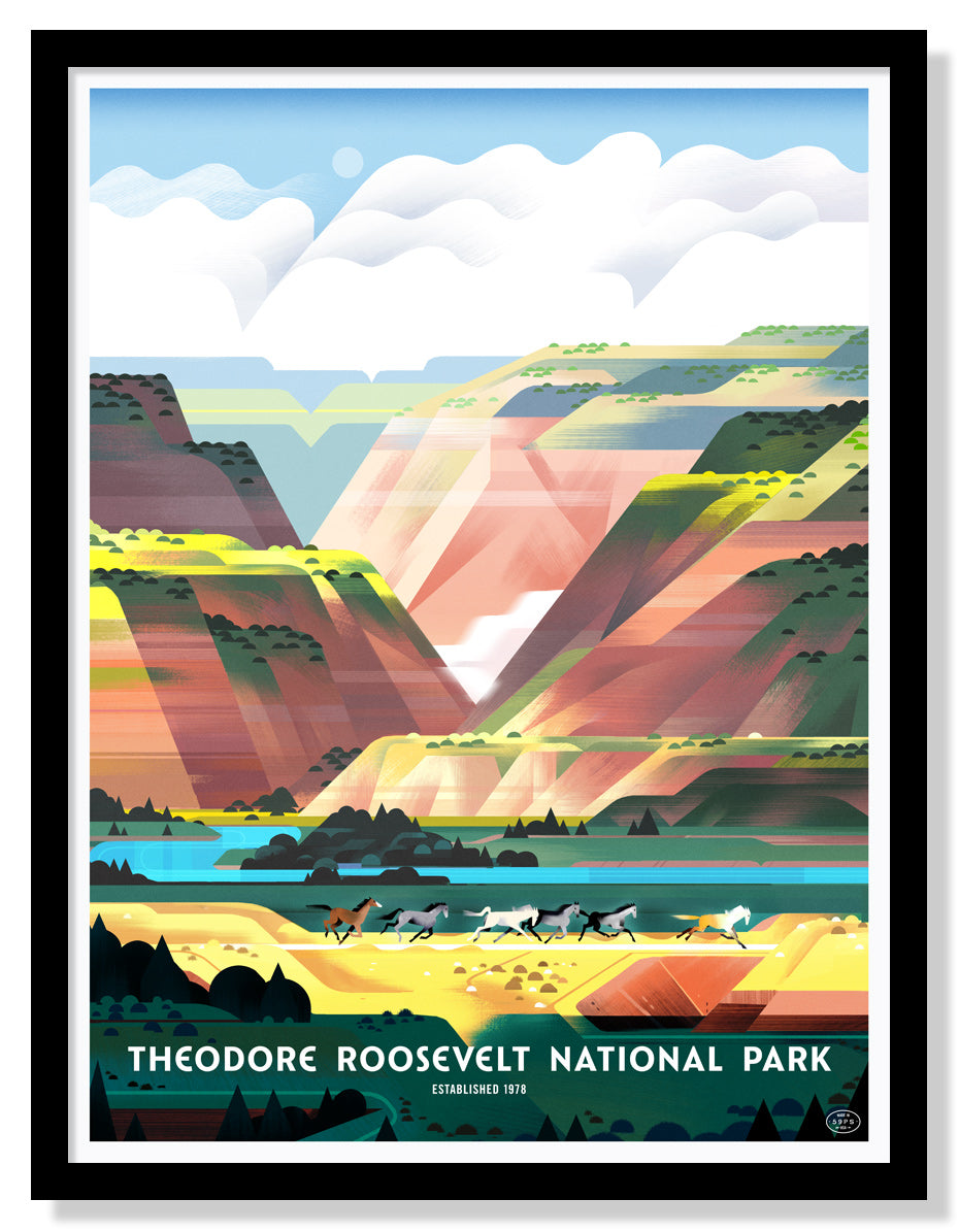 Theodore Roosevelt National Park Poster (Large Timed Edition)
