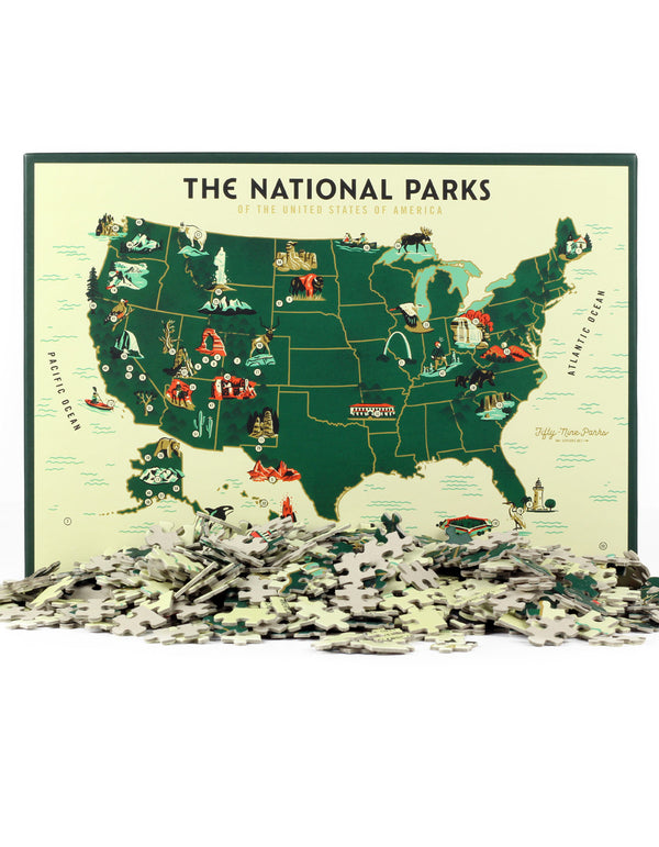 US National Park Map Puzzle