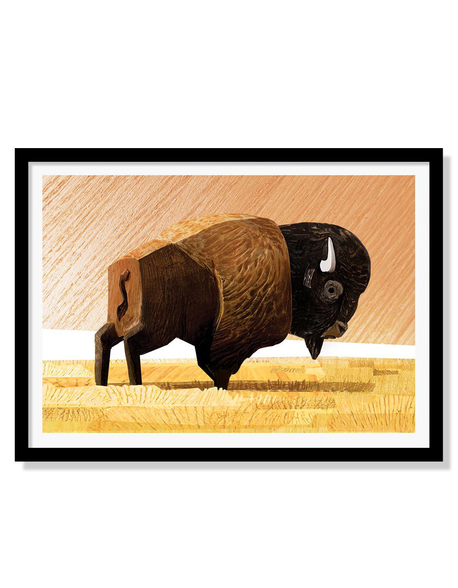 Wes the Bison Mini Print