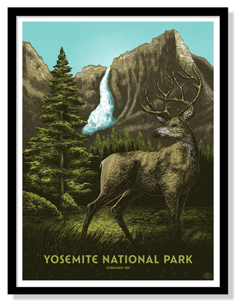 Yosemite National Park Poster (Large Timed Edition)