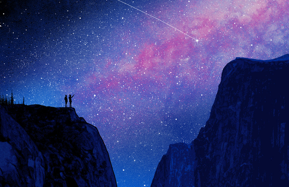 Yosemite National Park Poster (Night Sky)