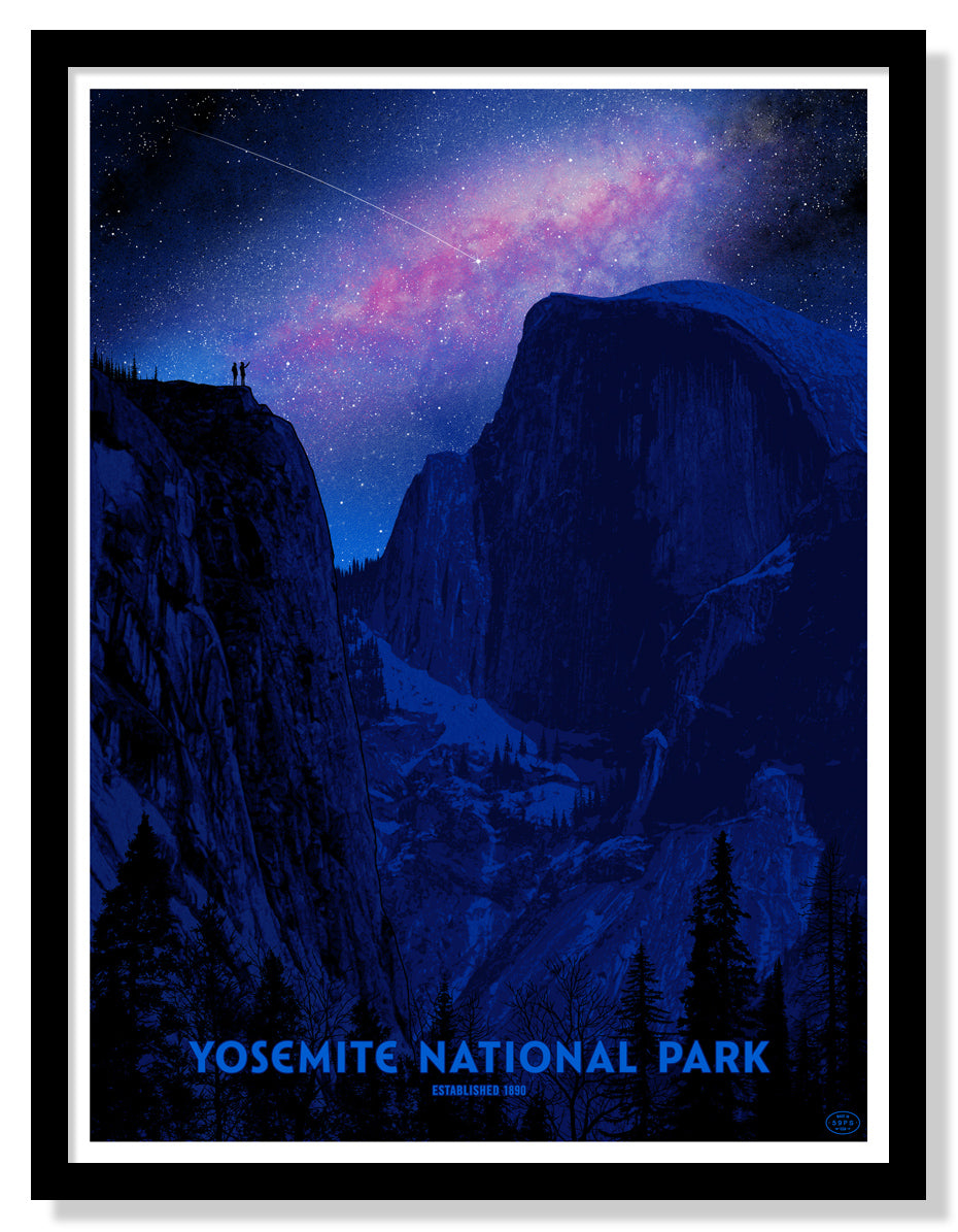 Yosemite National Park Poster (Night Sky - Large Timed Edition)