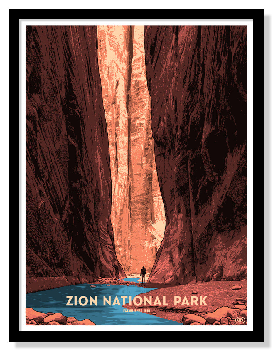 Zion National Park Poster (The Narrows)