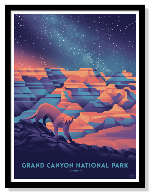 Grand Canyon National Park Poster (Night Sky - Large Timed Edition)