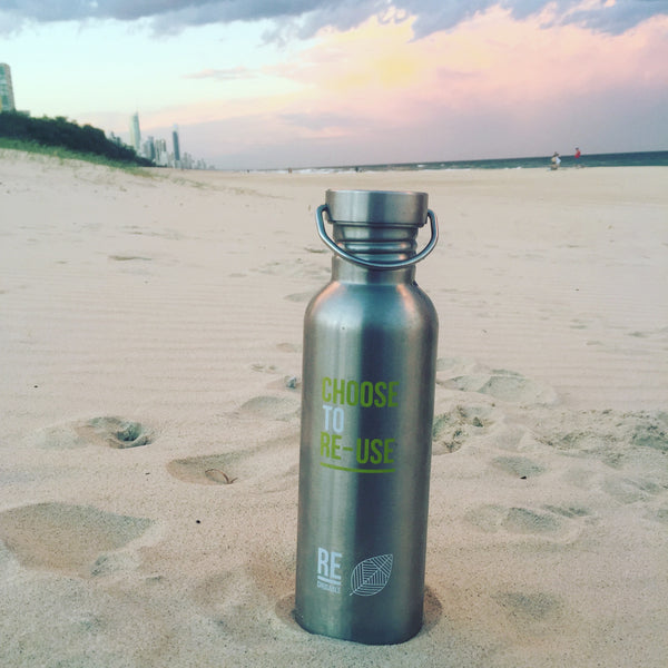 Plastic Free 800ml Stainless Steel Bottle
