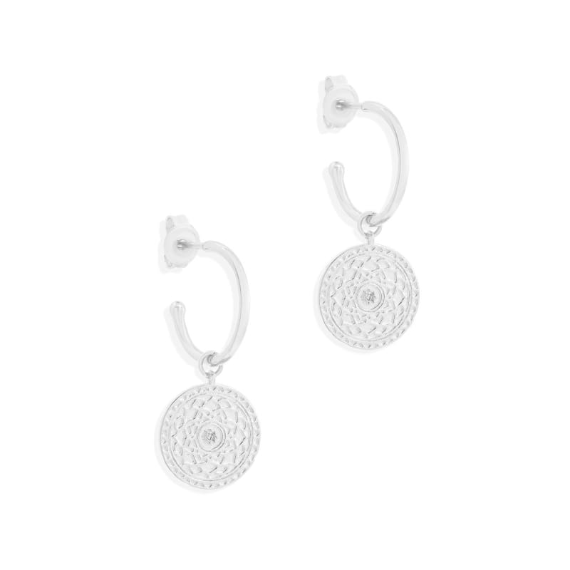 A Thousand Petals Hoops Silver - Accessories