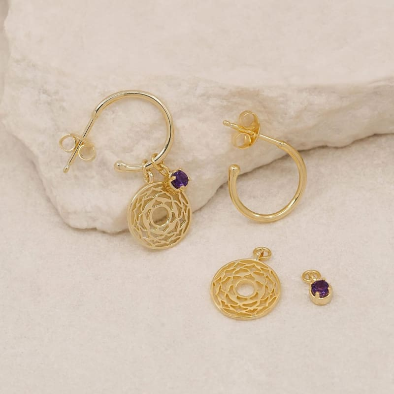 I Am Divinely Grounded Crown Chakra Hoops Gold - Accessories