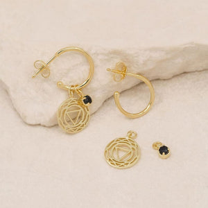 I Create My Reality Third Eye Chakra Hoops Gold - Accessories