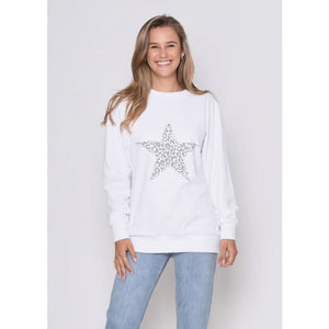 Star Sweater White - Tops