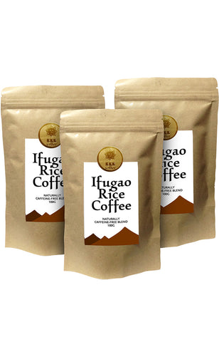 Kape Coffee Co.'s Premium Ifugao Rice Coffee (100g) pack of 3