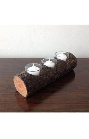 Rustic Branch Candle Holder