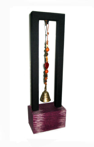T'boli Bell Charm with Stand - Violet
