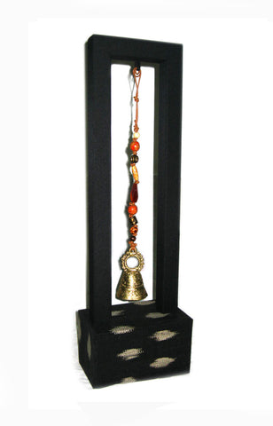 T'boli Bell Charm with Stand - Black