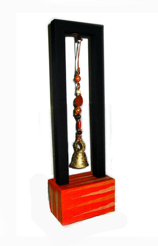 T'boli Bell Charm with Stand - Orange