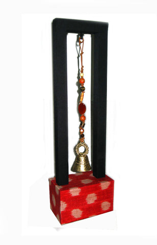T'boli Bell Charm with Stand - Red