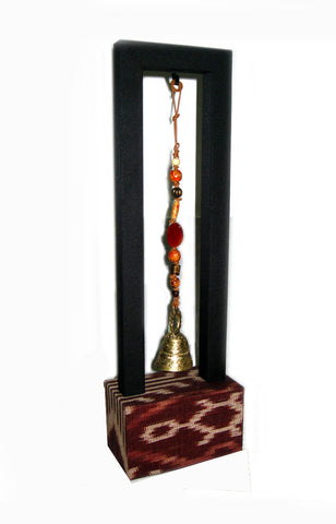 T'boli Bell Charm with Stand - Brown