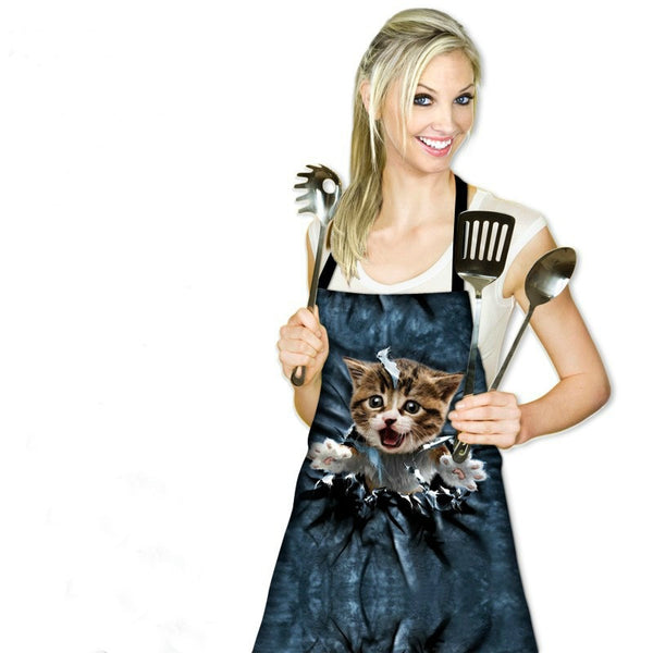 Cutest Kitchen Apron With Cat Print