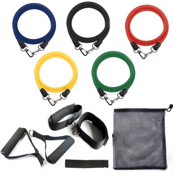 11 Piece Resistance Band Set - Suitable for the p90x and ABS Workout!