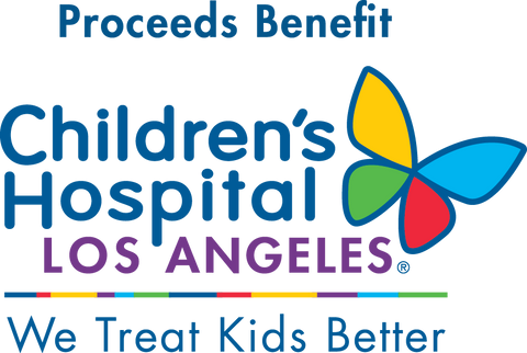 Proceeds Benefit Children's Hospital Los Angeles We Treat Kids Better Logo