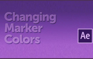 change marker color in after effects