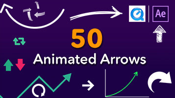 50 Arrows Animation in After Effects or QuickTime Movie