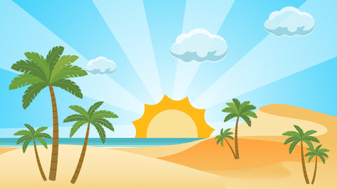 Beach Background Animation Template For Kids
