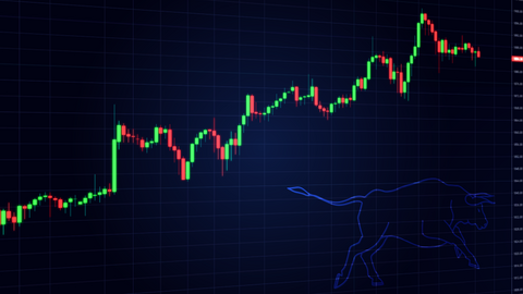Bull Stock Market Animation