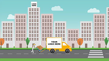 Business Moving Relocation After Effects Animation