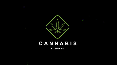 Cannabis Glitch Logo Animation