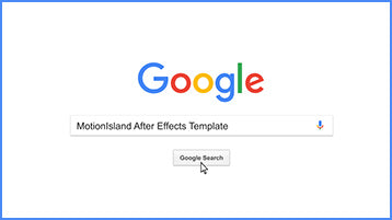 Google Search After Effects Template Project