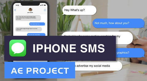 IOS iPhone text message - After Effects Template Project
