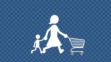 Mother and Boy Shopping Animation