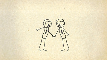Stick Figure Hand Shake Animation