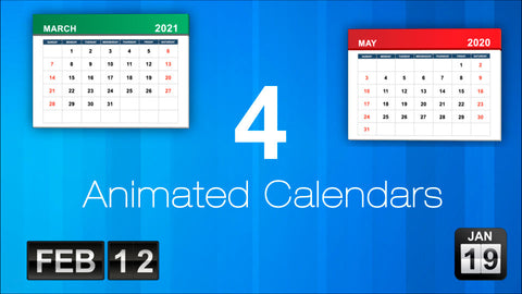4 Animated Calendar Time-lapse