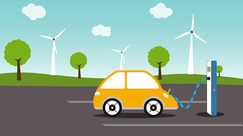 Electric Car Charging Animation