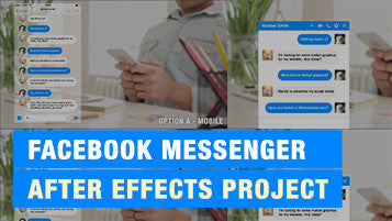 Text Message Facebook Animation Conversation - After Effects Template