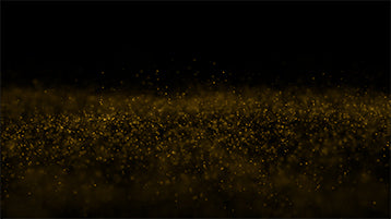 Golden Particles Background Flying